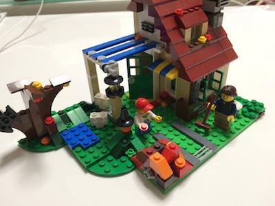 LEGOブロック季節のコテージ・秋