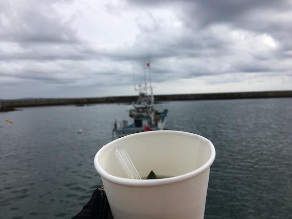 ツールド東北2017蔵内漁港のわかめスープ